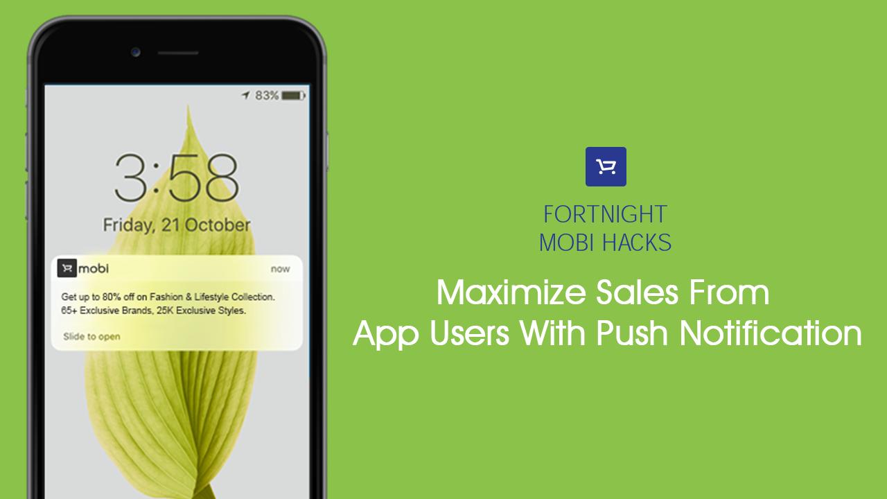 Mobile app push notifications