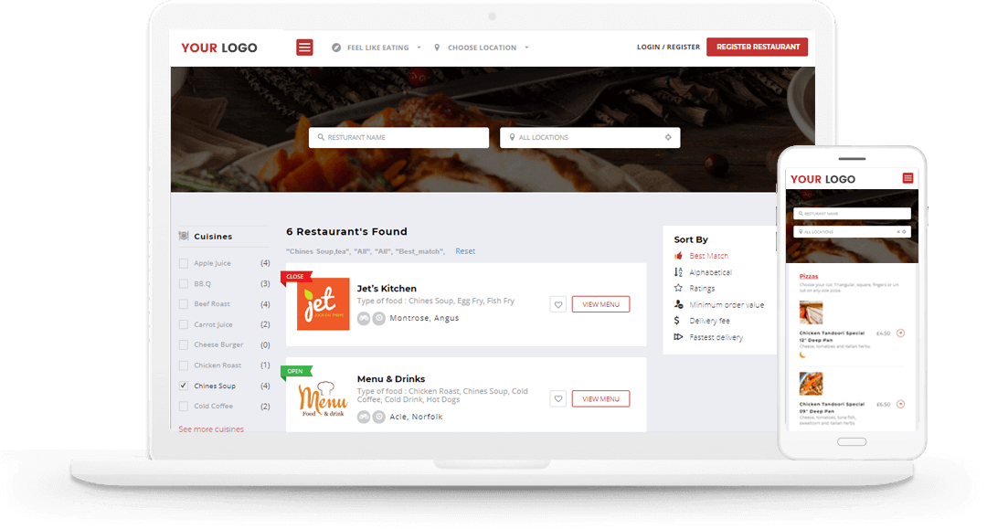 restaurant food ordering solution