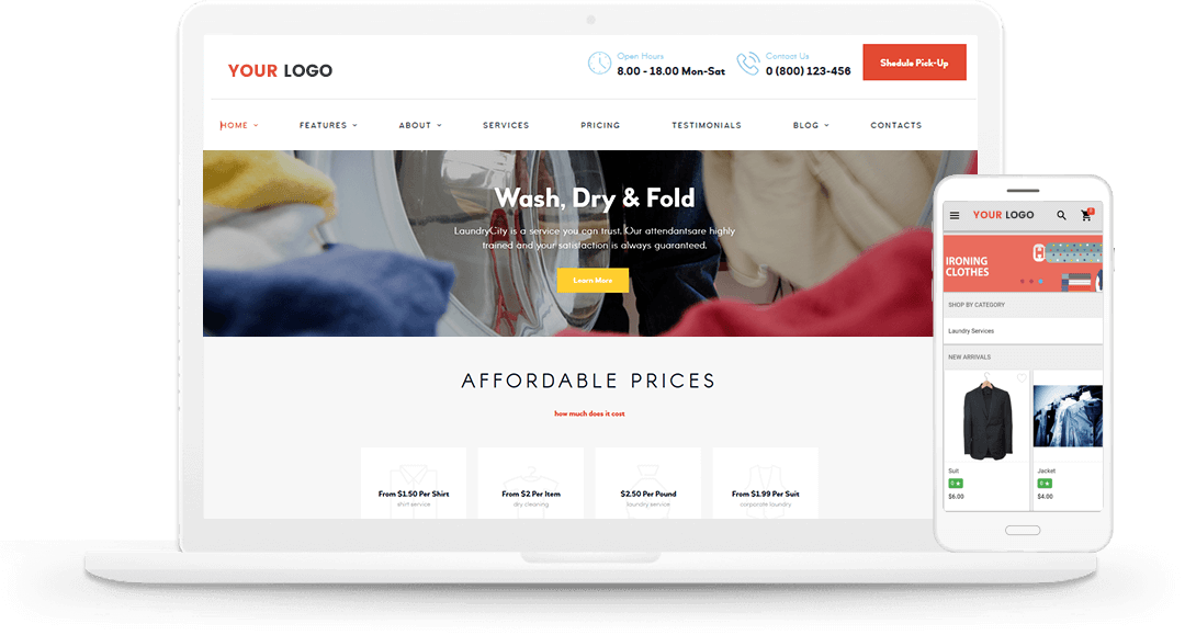 laundry mobile app solution